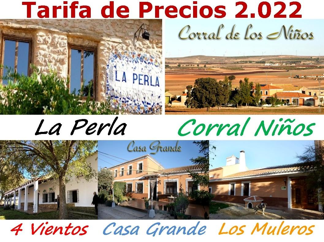 Tarifa De Precios 2018 Casa Rural En Albacete Grandes